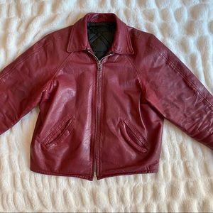 Other - Vintage Men's Leather Letterman Jacket